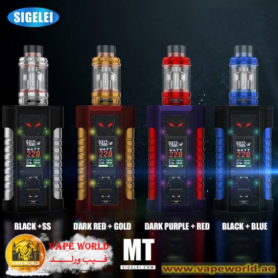 SIGELEI MT 220W TC STARTER KIT WITH REVOLVR PLUS TANK AND ONE RBA (A)